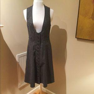Nanette Lepore Grey Flannel pinstriped Dress